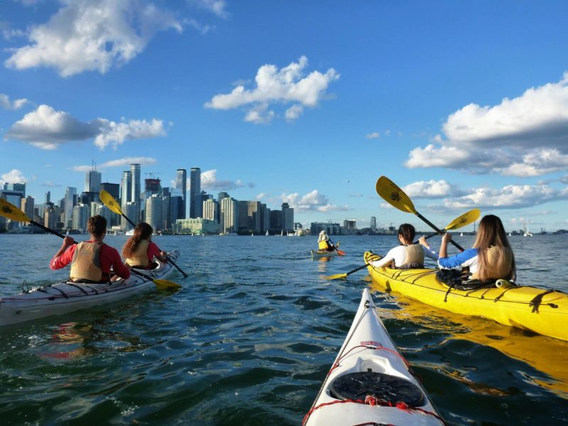 Tandem evening kayak tour at Harbourfront Canoe and Kayak Centre