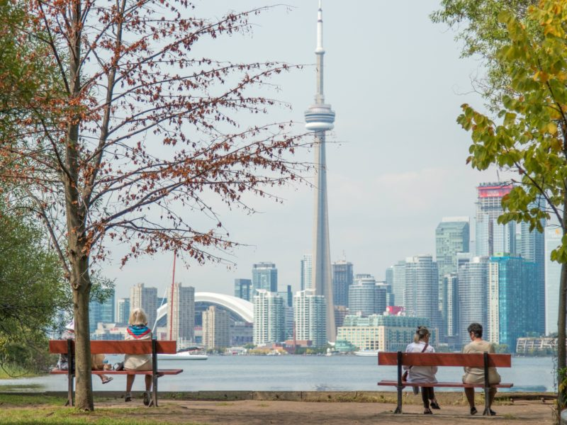 Photo of toronto skyline from the Islands.