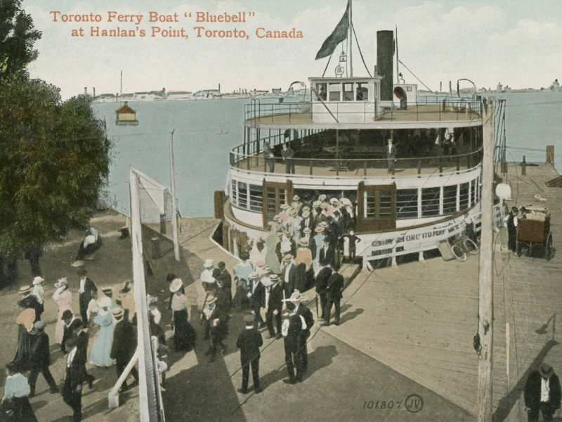 Toronto Ferry Boat Bluebell at Hanlan's Point, Toronto, Canada