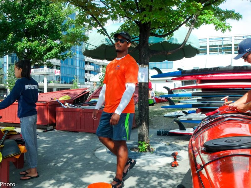 Harbourfront Canoe and Kayak Centre dock staff.